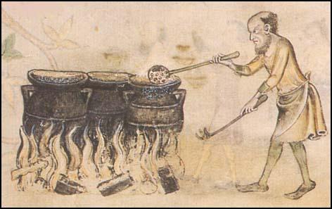 Man cooking stuff